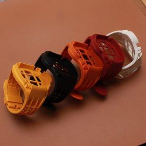 Hot-sale Gummiarmband mit Schutzhülle für 44mm Sport Watch Band Wrist Strap Armband mit Rahmen Schwarz Rot Weiß Hohe Qualität neu