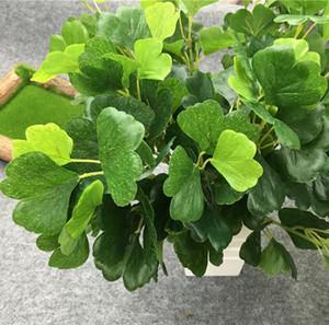 7head искусственные листья гинкго филиал Зелень для растений стены фон свадьба домашний офис бар декоративные