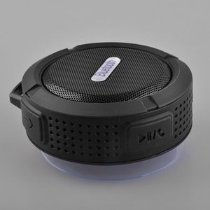 NOVO Bluetooth mini portáteis sem fio USB Speaker C6 Duche Som Waterproof caixa de alto-falante de Boombox Subwoofer para Laptop / PC / MP3 / MP4