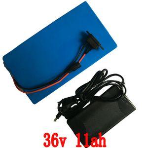 36V Ebike 배터리 11Ah 500W 리튬 스쿠터 배터리 팩 36V 전기 자전거 배터리 36V 42V 2A 충전기, BMS 무료 배송