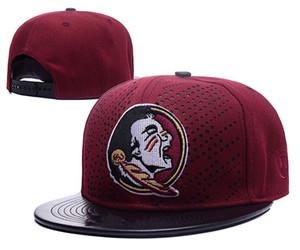 Florida State Seminoles colore nero NCAA Snapback Hats USA College di carattere Logo Design protezioni registrabili degli uomini all'ingrosso