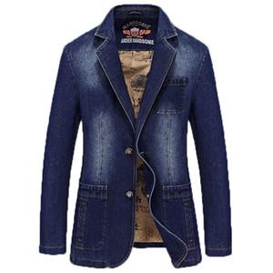 Wholesale- Autumn Men's  Clothing Denim Blazers Jacket Plus Size M~4XL Jeans Coat Slim Fit Casual Overcoat 169