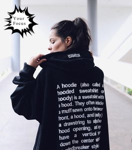 Wholesale-2016 hip hop harajuku k- got7 GD style vetements letters embroidery black hoodie long sleeves oversized hoodies men and women