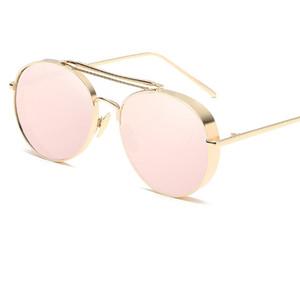 Nuevo 2017 gafas de sol de moda Steampunk mujeres para hombre diseñador de la marca Clip On Sunglasse espejo Zonnebril Mannen UV400 Y23