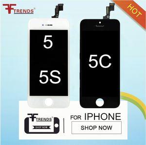 für iphone 5 5s 5c se lcd display touchscreen digitizer volle montage ersatzteile günstigen preis 50pcs / lot schwarz weiß versandkostenfrei