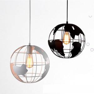Iron creative modern globe chandelier personalized retro cafe dining room led Pendant Lights AC 110V 220V CE UL