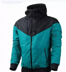 Livraison gratuite Automne mince windrunner Hommes Femmes sportswear de haute qualité tissu imperméable à l'eau Hommes sport veste Mode fermeture à glissière à capuche