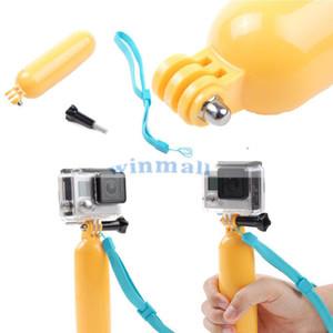 Желтый плавучий поплавок с ремешком Плавающая камера плавучести для подводного плавания Ручная рукоятка / ручка для крепления на рукоятку + винт для камеры действия H9