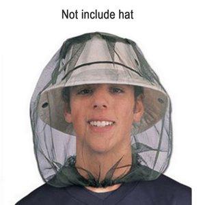 Mosquito Head Net Shellvcase Bee tête Masque mancherons Chapeau protection net avec protection visage filet extérieur cou Équipement de pêche B121Q