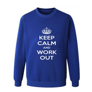 New Keep Calm Workout Gym 2018 autumn this is me printed Men O Neck T Shirt Casual long Sleeve Slim Fit