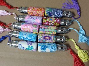 10 قطعة / الوحدة فارغة العطور عبوات زجاجات الزجاج لفة على الرول الكرة بوليمر كلاي زجاجة مع غطاء 6 ملليلتر