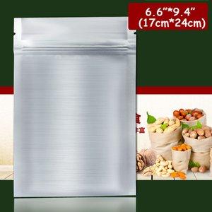 100pcs / lots 17cm * 24cm * 240mic Qualitäts-Aluminiumnahrungsmittelbeutel mit Reißverschluss-Verschlussbeutel oberster Plastikverpackungs-Grossist