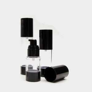 Siyah Pompa ile 15 ml 30 ml 50 ml Temizle Havasız Şişe Doldurulabilir Losyon ve Jeller Dispenser Seyahat Konteyner 10 adet / grup P001