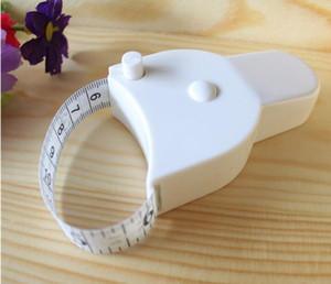 Heißer verkauf Fitness Genaue Körperfett-schieber Mess Körper Maßband Lineal Messen Mini Niedlich Maßband Weiß