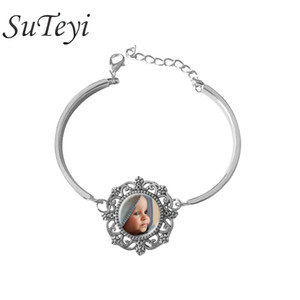 Personalized Customized Bangles Custom Golden Bracelet Photo Of Your Baby Mum Of The Child Grandpa Parent Well-Beloved For The Family Gift