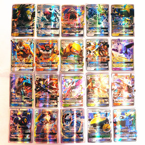 Novo cartão 100 peças flash card da coleção GX de cartões bonito cartão configurar cartas de poker mega versão Brinquedos Inglês para meninas e meninos jogos Ch