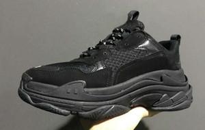 los hombres de descuento baratos mujeres presenta una nueva Triple S zapatillas de deporte, moda Spec formadores, Calzado para Hombres, Hombres corrientes Tripe-S nueva Formación zapatillas de deporte