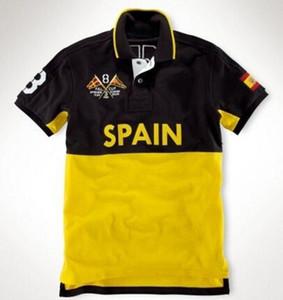 2016 Summer Polo Sailing Team Race BR CAN GER ITA Espagne Pays Hommes manches courtes T-shirt de sport Mexique Emirats Arabes Unis SUI NW