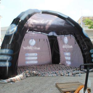 PVC القماش المشمع كبيرة خيمة الأسود في الهواء الطلق نفخ الإعلان نفخ الهواء معارض مشاهدة خيمة مع شعار مخصص