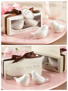 En ucuz Düğün dekorasyon Aşk hediye Aşk kuşlar Tuz ve Biber Çalkalayıcılar Düğün iyilik için Parti iyilik ve düğün hediyelik eşya 200 Adet = 100 kutu