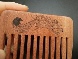 2017 Pure ручной работы Широкий деревянный гребень дизайнер массаж медработник уход расческа борода волос гребень Combs для подарка
