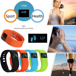5pcs TW64 Fitness Tracker Bluetooth Smart Band Sport Bracciale Smart Band Wristband Contapassi per iPhone IOS Android