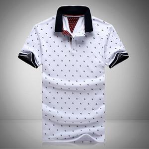 Novos Homens Impresso Camisas 100% Algodão de Manga Curta Camisas Gola Masculina Camisa M-3XL