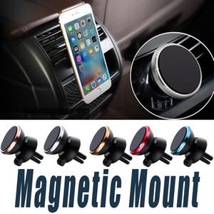 Автомобильные магнитные держатели для сотовых телефонов Вращающиеся на 360 градусов держатели Moblie для телефонов с 6-ю универсальным кронштейном из магнитного железа