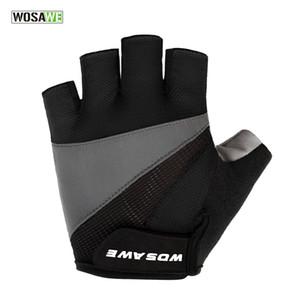 WOSAWE guantes de ciclismo de alta calidad Ciclismo guantes de bicicleta 3D GEL deportes a prueba de golpes medio dedo guantes de los hombres