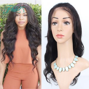 9A Top Quality 130 Density Human Peruvian Front Lace Wigs   Full Lace Wig Wavy Human Hair For Black Women With Baby Hair