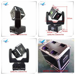 2 unidades con Flight Case Cube Cabeza móvil Iluminación LED 6x12W RGBW 6face 6side 4in1 LED Cube Ball Beam