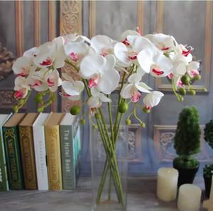 Bela 78 centímetros Comprimento Artificial Silk Phalaenopsis borboleta Orchid Folha Flower Pot arranjo para casamento Decoração do aniversário