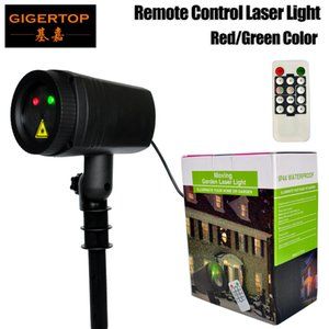 Gigertop TP-E35 Moving Garden Laser Light IP44 Waterproof Red Green Color Laser Projector Rotation 12 Patterns Strobe Flash