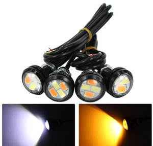 Luce di marcia diurna ad alta potenza 23MM Dual Color Switchback 5630 Luce di segnalazione a 4 LED Eagle Eye Dual Color DRL