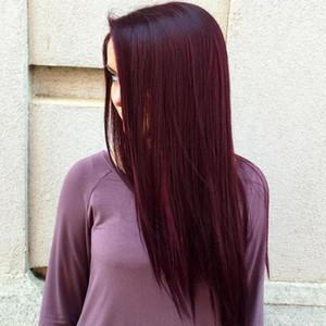 Meistverkauften Artikel Burgunder-Wein-Rot Farbe 99j Glattes Haar Weave Bündel brasilianische peruanische Malaysian Remy Menschenhaar-Verlängerungen