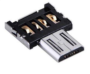 Accesorios para teléfonos celulares Mini 2.0 Adaptador convertidor micro USB OTG Micro USB macho a USB Adaptador OTG hembra para teléfono con tableta Android