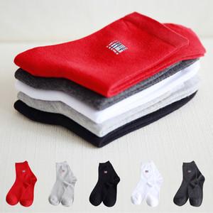 2017 Algodão Homens Respirável Lazer Algodão Meias Big Red Gentleman Business Boy Meias de Moda de Alta-qualidade Tubo meias