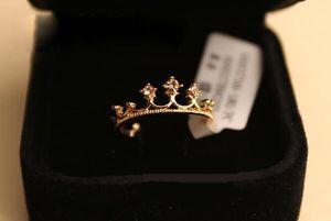 Korean Style Kristall Prinzessin Crown Ring Frauen Mädchen Partei Schmuck Persönlichkeit Fingerringe für Weihnachtsgeschenk