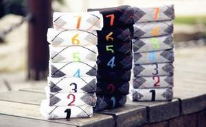 Nueva alta calidad Otoño verano paquete de 7 días a la semana hombre de dibujos animados Casual calcetines largos de algodón, medias de los hombres sin caja de regalo