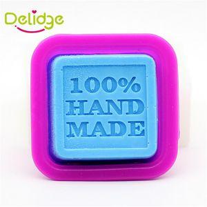Delidge 20 pc 100% Lettre À La Main Moule En Silicone Carré De Chocolat Bac À Glaçons Bougie Sugercraft 100 Pour cent À La Main Fabriqué DIY Moule