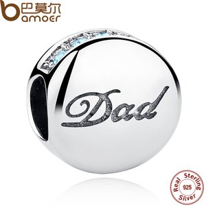 Стерлингового серебра 925 Eurpean шарик Fit Пандора стиль браслет синий кристаллы папа Шарм Fit BME браслеты браслеты День отца подарок