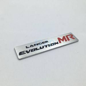 Новый стиль Lancer Evolution MR 3D Metal Логотип автомобиля сзади Магистральные знак герба Наклейка для Mitsubishi Lancer