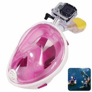 Buceo subacuático mergulho Juego de snorkel con máscara de buceo de cara completa y antiniebla con tapón para oídos y snorkel para go pro