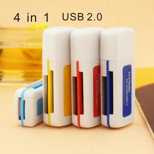atacado 4 em 1 Alta Velocidade 2.0 Micro SD T-Flash MS M2 TF Multi Card Reader cartão de memória adaptador USB pequeno multi-purpose