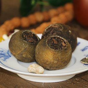 Chinois Ripe thé Puerh Xiao Qing Gan, Yunnan Vert Orange Peel Ripe Pu erh bienfaits pour la santé