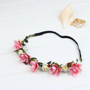 2017 Braut Blume Stirnband Festival Hochzeit Strand Bohemian Floral Haarband Headwear Haar Zubehör für mädchen DHL freies MOQ: 5 stücke SVS0041 #