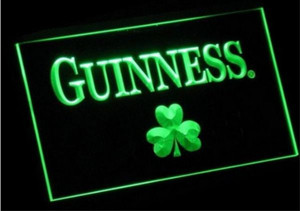 Guinness Shamrock cerveza bar pub club signos 3d led luz de neón signo artesanías de decoración del hogar