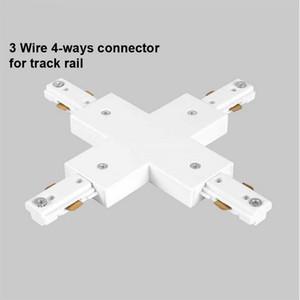 LED Parça Demiryolu Konektörü Düz Konnektörler 3 Tel Demiryolu Konektörü Ray Marangoz Spot Aydınlatma Için Parça Aydınlatma Parça Uydurma