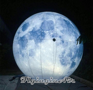 2m 3m Party Balloons Hung Lighting Inflatable Balloon Inflatable Moon Printing Planet for Decoration