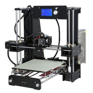 Freeshipping легко собрать Анет A6a8 3D-принтер большой размер высокая точность Reprap Prusa i3 DIY 3D печатная машина + очаг + нить + SD-карта + LC